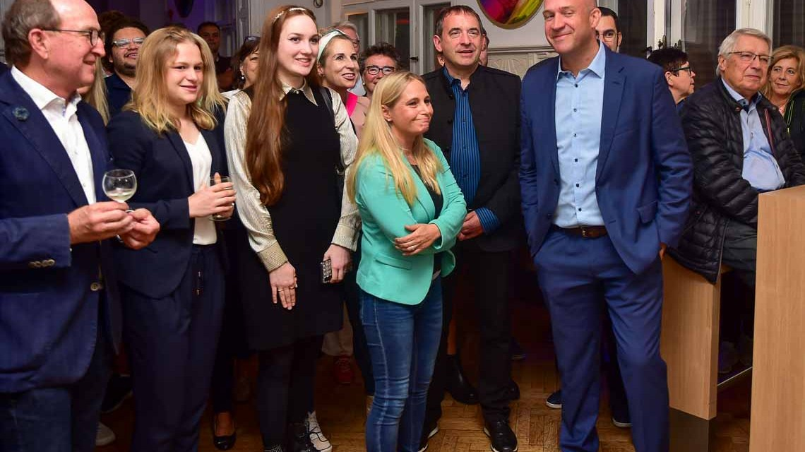 Ingmar Jung und Frau auf der CDU Wahlfeier