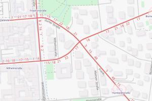 Karte, Frankfurter Straße Openstreetmap