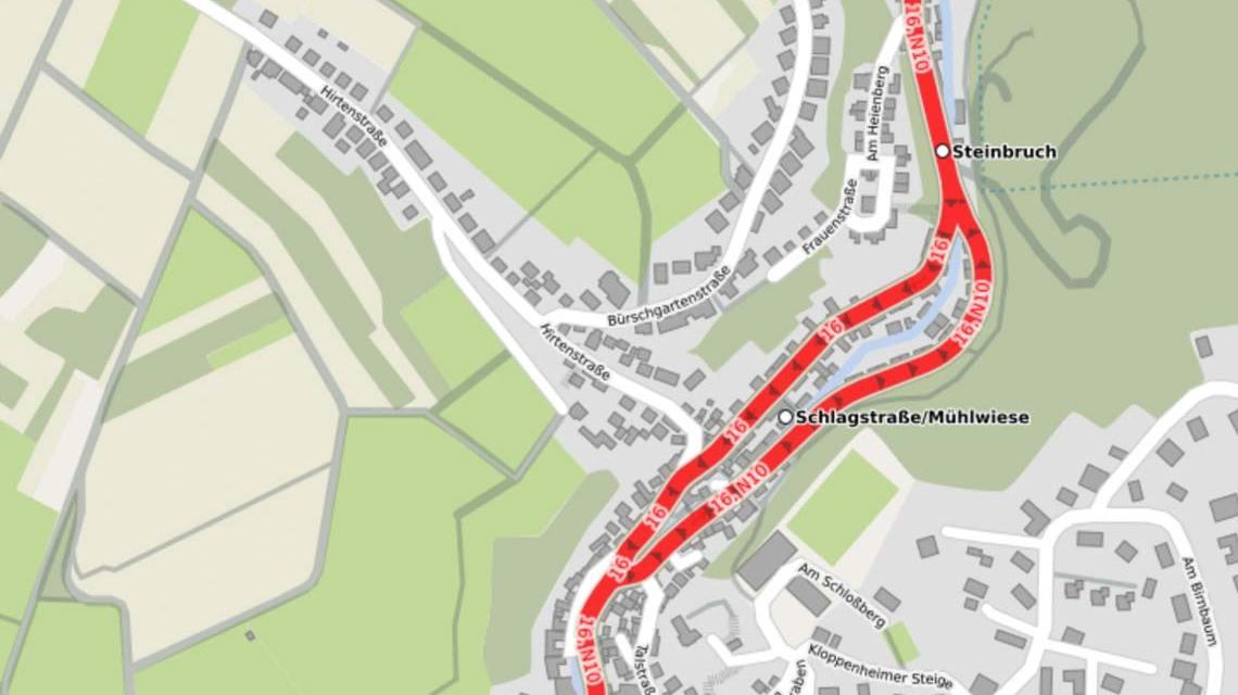 Karte mit Rambacher Straße von Openstreetmap