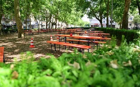 Auf dem Sedanplatz in lockerer Atmosphäre gibt es den Kiezgarten.