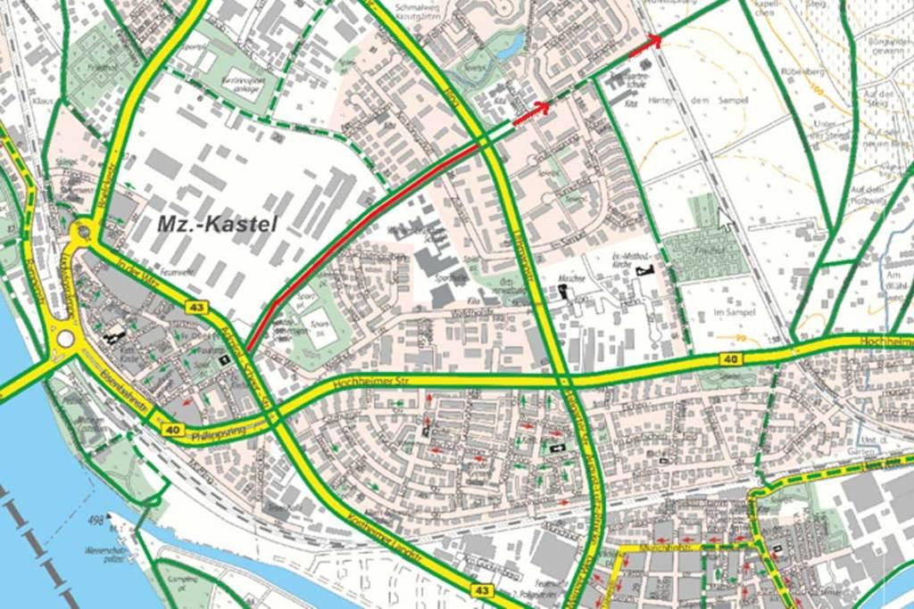 Karte Steinerne Straße