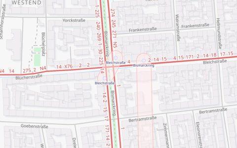 ÖPNV Karte, Bleichstraße