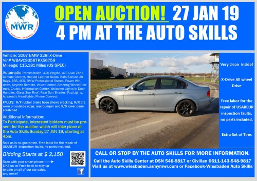 small resolution of sale bmw 328xi open auction 27 jan 19 jpg