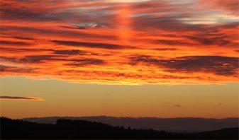 Ein Zeichen des Himmels? Spektakulärer Sonnenaufgang am 15.01.2014