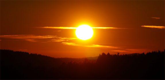 Kurz bevor die Sonne unterging