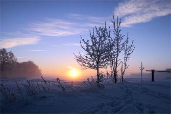 Sonnenaufgang bei Schönbach