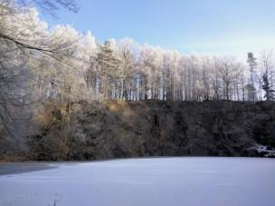 Steinbruch im Winterwunderland