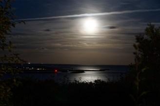 Kurz nach Mondaufgang, Abendstimmung auf Helgoland, erster Abend, 25.09.2018