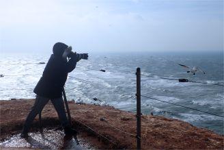 Sturm! Gegen den Wind fotografierend