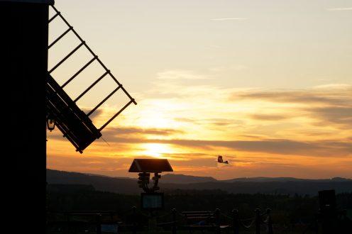 Drachen beim Sonnenuntergang, Kottmarsdorf
