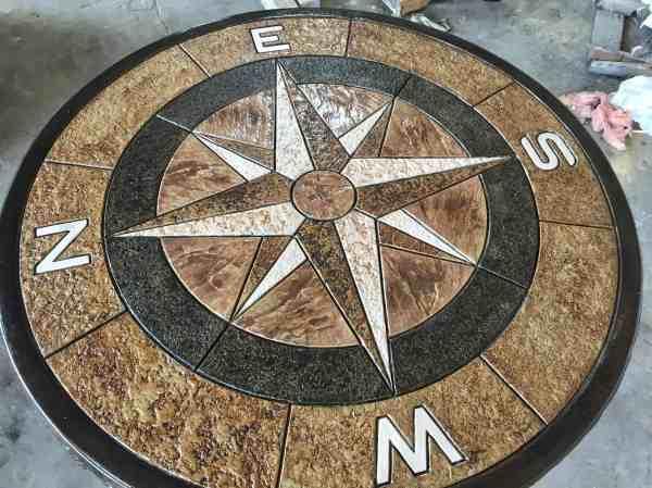 Precast Concrete Picnic And Compass Tables