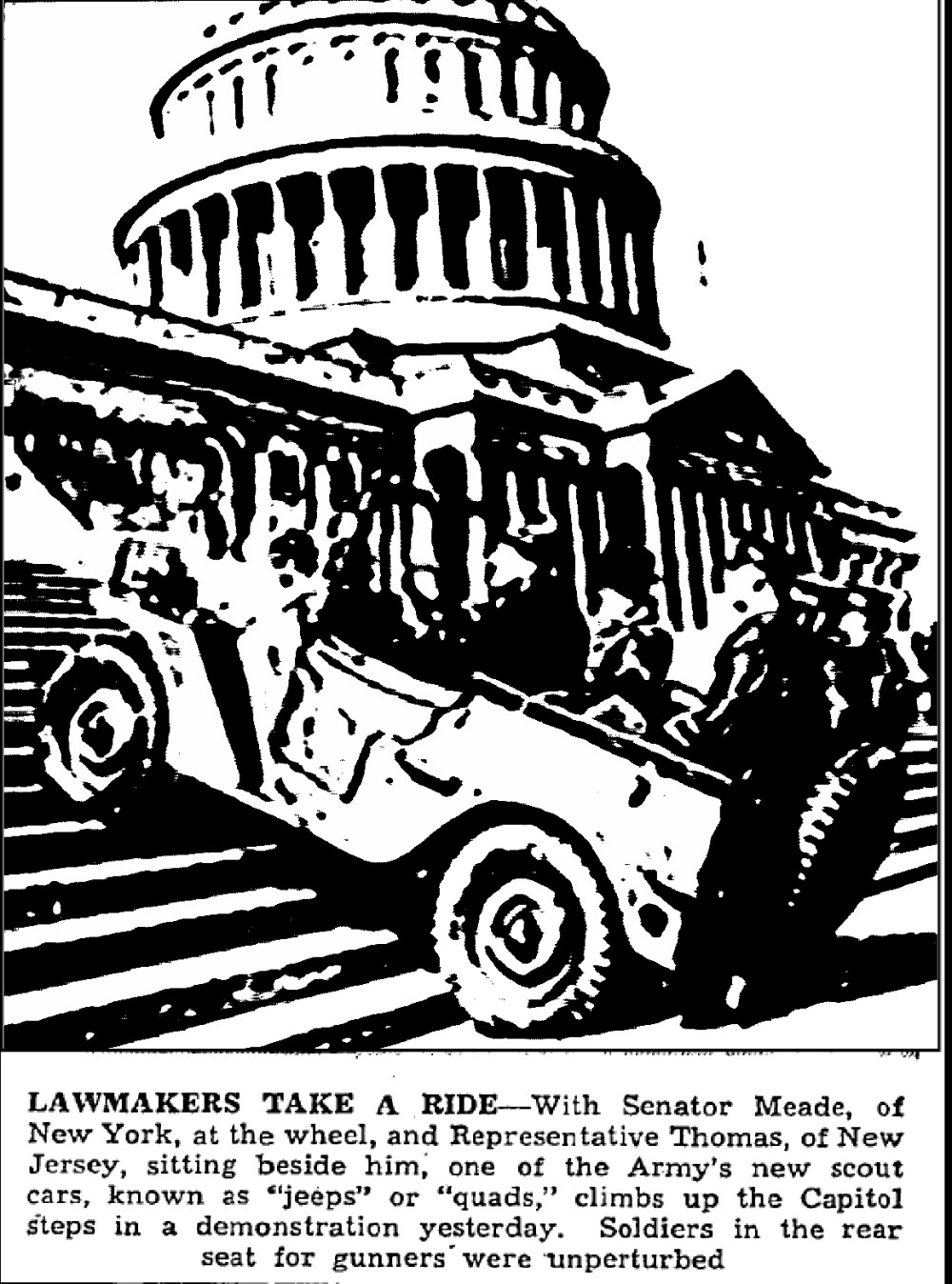 medium resolution of in the early 1940s willys would stage publicity events showing off their ma s stair climbing capabilities for the war effort archived