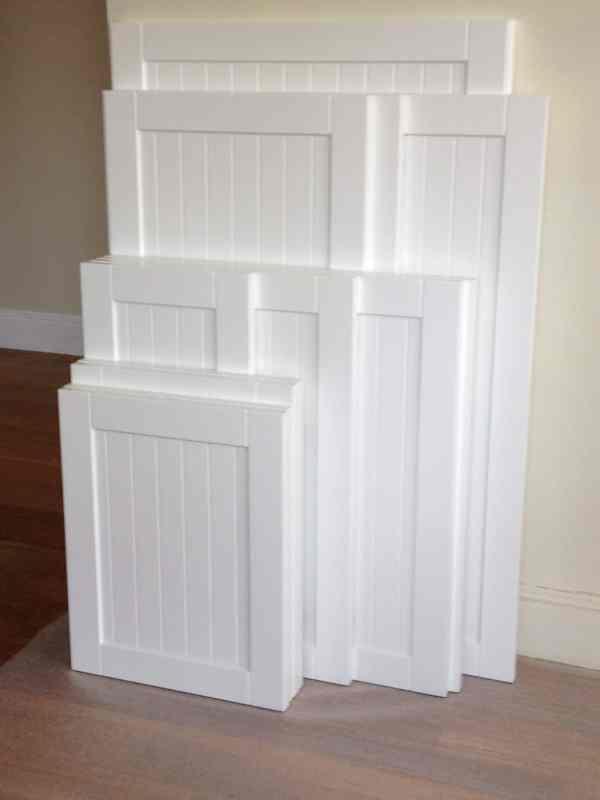 White Beadboard Kitchen Cabinet Doors