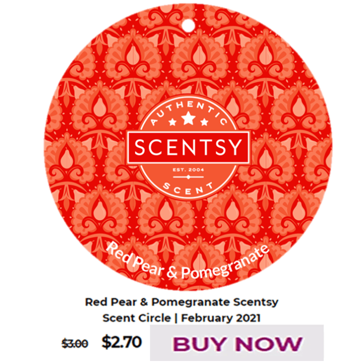 Scentsy Warmer Of The Month Cast – Pink Warmer with Spring Pack & Red Pear & Pomegranate Scent for February 2021