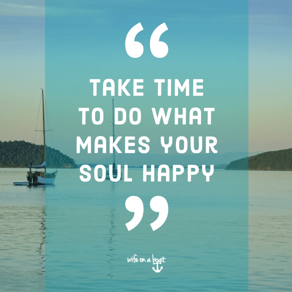 Boat Quote - A Happy Soul
