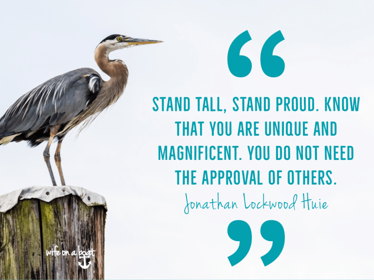 Boat Quote - the heron