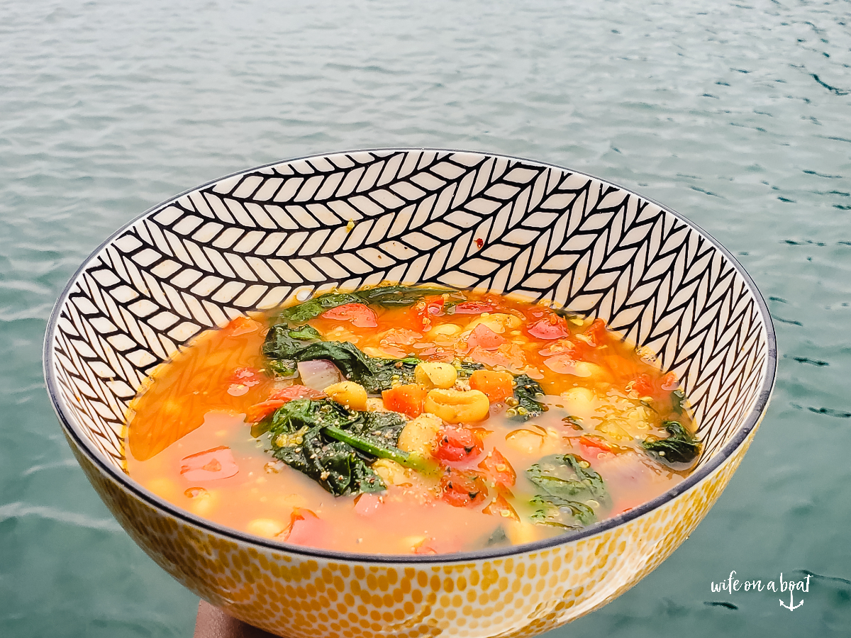Curried Vegetable Spinach Soup