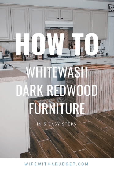 How To Whitewash Dark Antique Wood Furniture Wife With A Budget