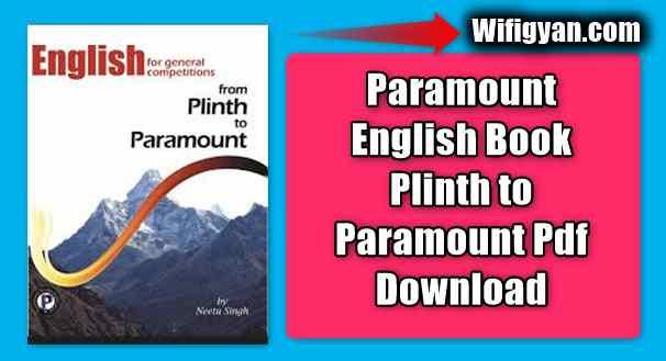 Paramount English Book Plinth to Paramount Pdf Download