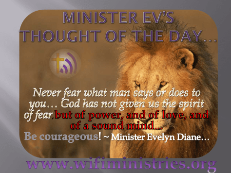 Minister Ev's thought of the day 8-22-2012