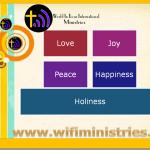 Love joy peace happiness holiness