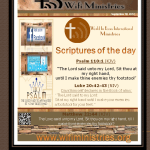 Scripture of the day 9-30-2012