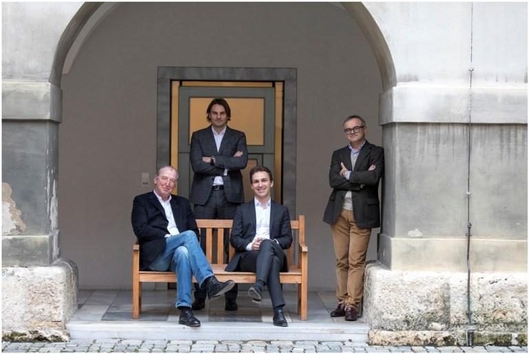 v.l. Georg Mayer-Heinisch (SHOPiMORE), Claus Tüchler (ICS), Martin Neubauer (WIFI Steiermark) und Franz Reisenhofer (Krobath Gebäudetechnik) trafen sich zu einem Runden Tisch im Steirischen Presseclub.