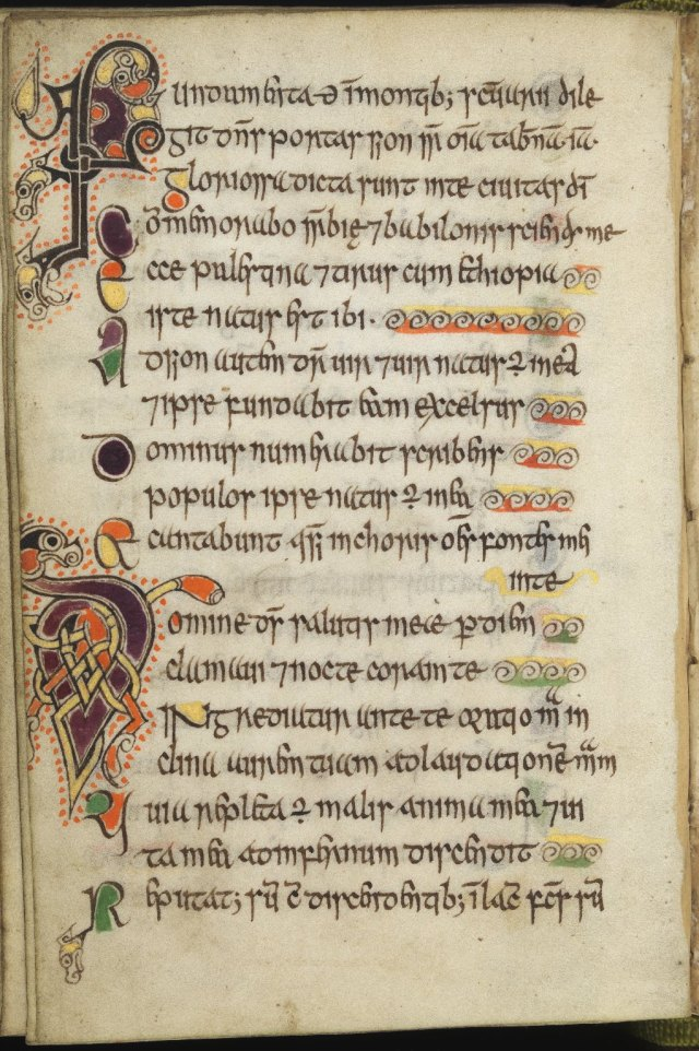Celtic Psalter - Image via University of Ediburgh