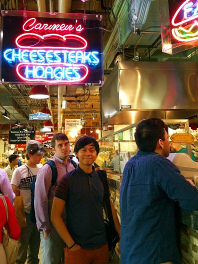Reading Terminal Market's famous cheesesteak booth