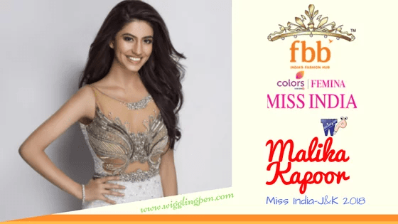 Malika Kapoor presenting beauty of India J&K in FBB MISS INDIA 2018
