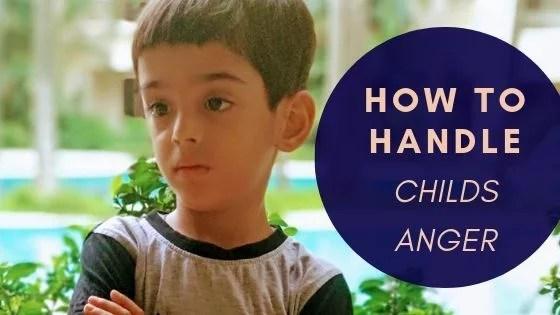 Handling your Child's Anger