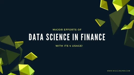 Major Efforts Of Data Science In Finance- With Its 4 Usage!