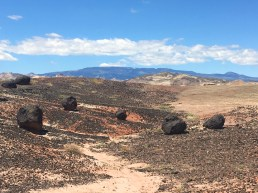 Big black boulders