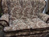Vintage 2 Seat Sofa Settee Comfy Chair Fireside Country ...