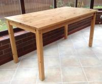 SOLID PINE KITCHEN TABLE in Bembridge - Sold | Wightbay