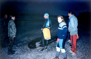 Reality dawned as they came across a whale that didn't make it through the night