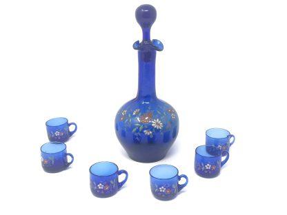 Blue Glass Decanter Set