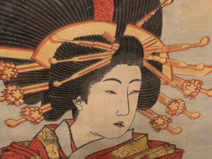 Japanese_woodblock Print Courtesan close Up
