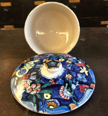 Jessie M King colourful ceramic hand painted dish