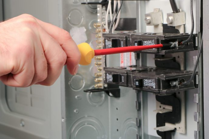 SlimLine Screwdrivers from Wiha Tools in an electrical panel