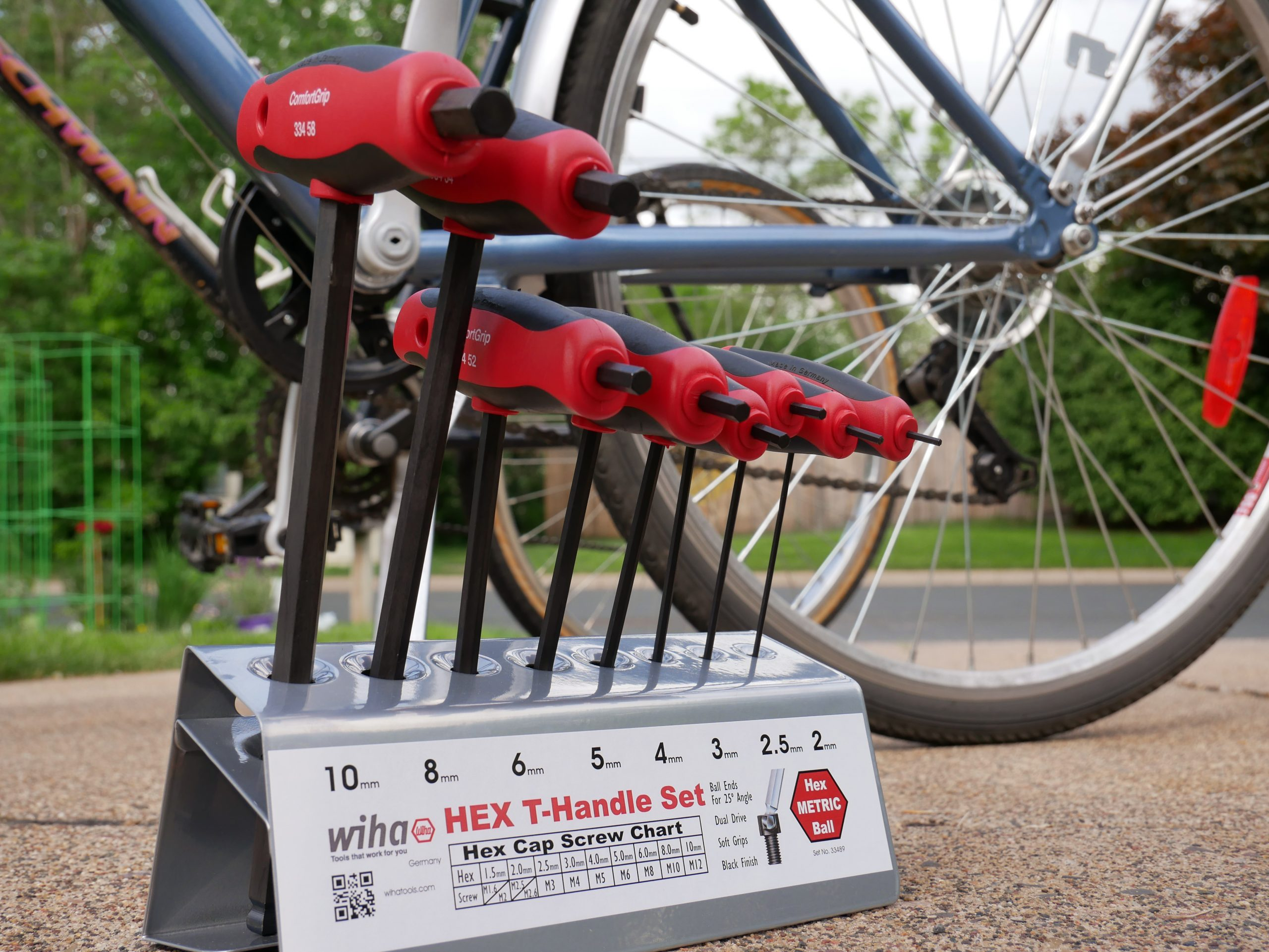 Hex Keys in Stand with Bicycle