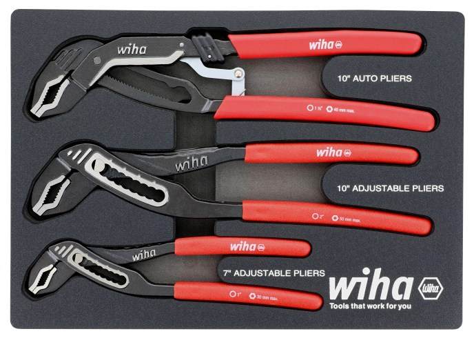 Wiha Tools Pliers set in foam tray