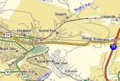 Map depicting the East End areas of Clarksburg WV