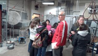 Tom Loeser leads tour at Art Loft