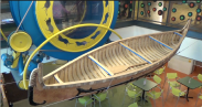Museum canoe display