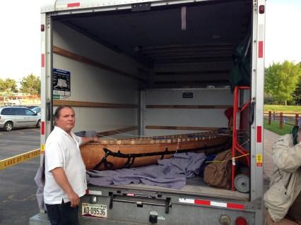 Wayne welcomes the return of the canoe to Lac du Flambeau (Photo Credit: B. Marcus Cederström)