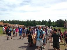 Walking to Lake Pokegema (Photo Credit: B. Marcus Cederström)