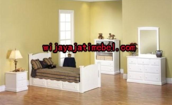 Set Tempat Tidur Anak Model Furniture Minimalis Putih Duco