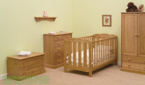 Set Tempat Tidur Bayi  Box Minimalis Anak  Wijaya Jati Mebel