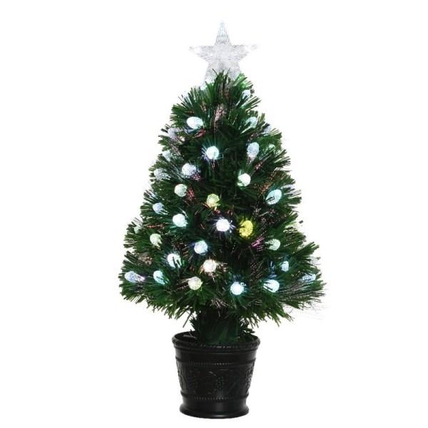 Groene glasvezel kunstkerstboom 60 cm